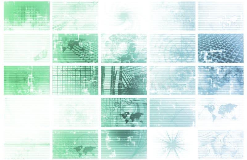 数据能源未来派格状网 库存例证