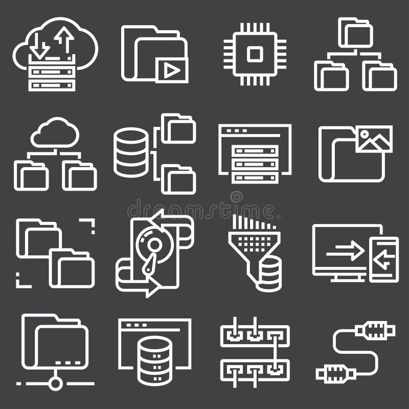 数据设置组织和管理斑点排行网象 库存例证