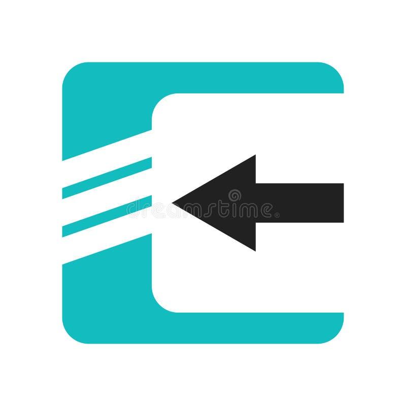 数据进口接口标志象在白色背景和标志隔绝的传染媒介标志,数据进口接口标志商标概念 皇族释放例证