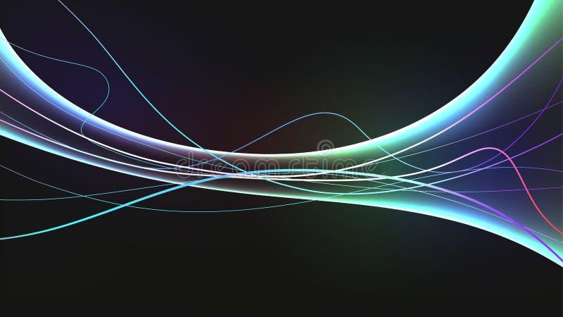 数据连接线波浪摘要技术 库存例证