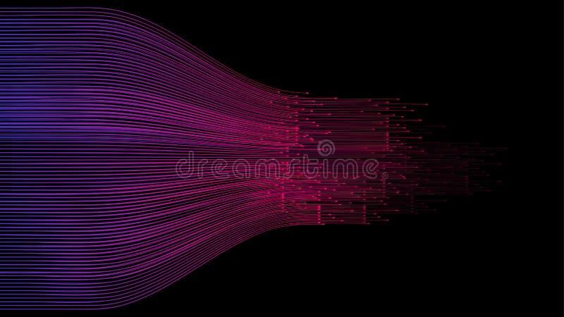 数据连接速度线摘要技术 向量例证