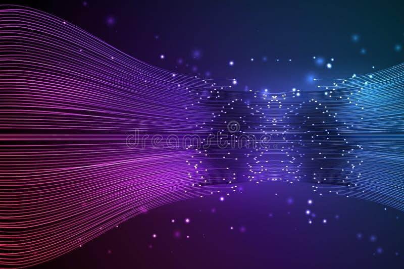 数据连接速度线 皇族释放例证