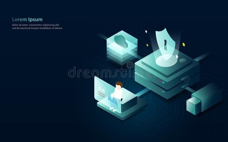 数据逻辑分析方法互联网安全概念 平和等量样式设计 库存例证