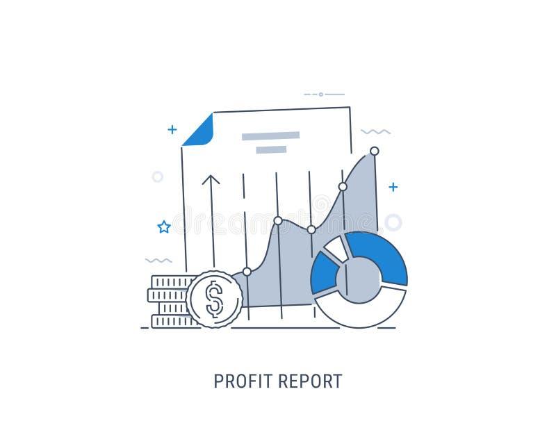 数据逻辑分析方法和赢利报告 免版税图库摄影