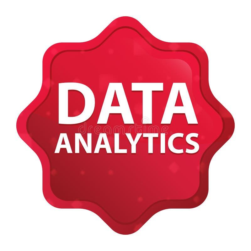 数据逻辑分析方法有薄雾的玫瑰红的starburst贴纸按钮 向量例证