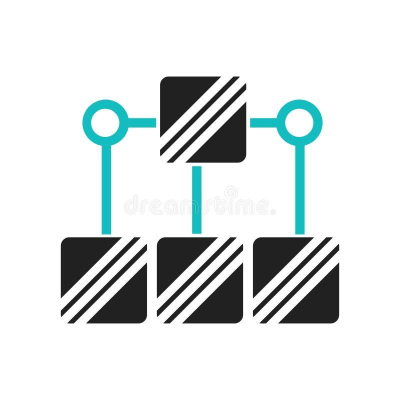 数据逻辑分析方法流程图符号象在白色背景和标志隔绝的传染媒介标志,数据逻辑分析方法流程图符号商标 皇族释放例证