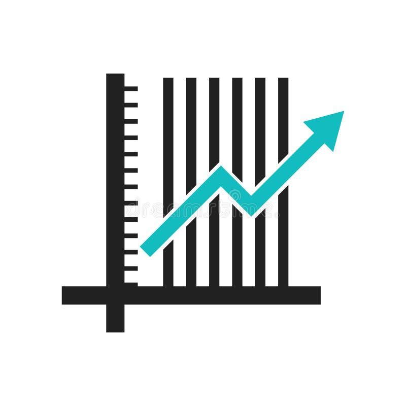 数据逻辑分析方法登高的折线图象在白色背景和标志隔绝的传染媒介标志,数据逻辑分析方法上升的折线图 库存例证