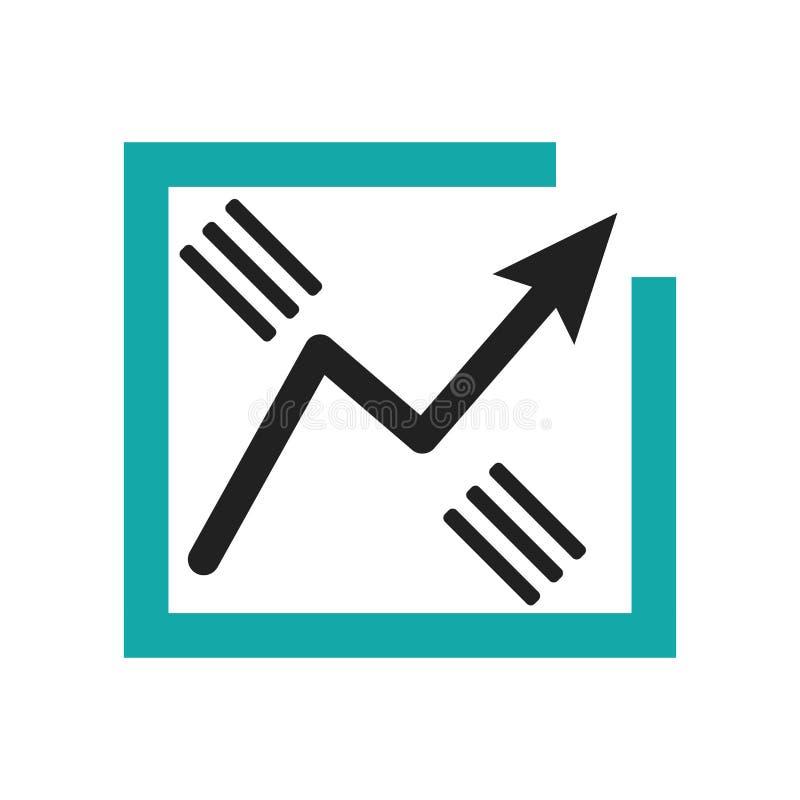 数据逻辑分析方法线图表象在白色背景和标志隔绝的传染媒介标志,数据逻辑分析方法线图表商标概念 库存例证