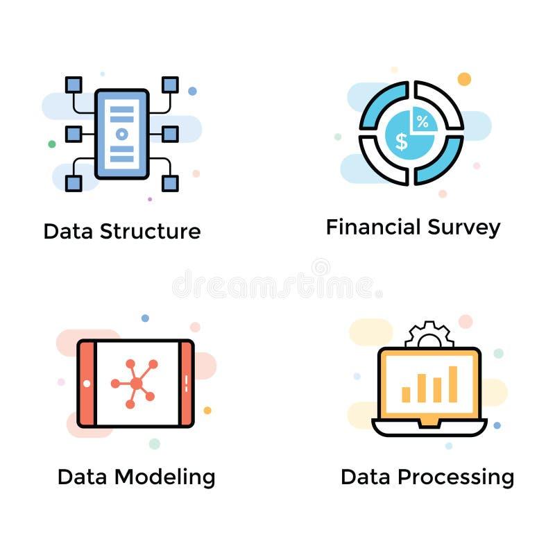 数据逻辑分析方法象汇集 向量例证