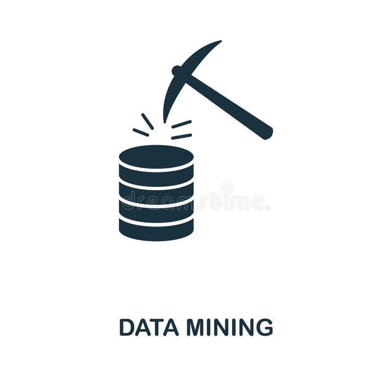 数据采集象 从大数据象收藏的单色样式设计 Ui 映象点完善的简单的图表数据采集象 网 向量例证