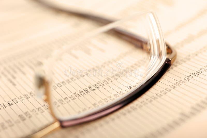 数据镜片财务宏指令 免版税库存图片