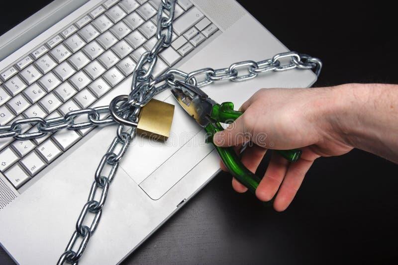 数据黑客证券 免版税库存照片