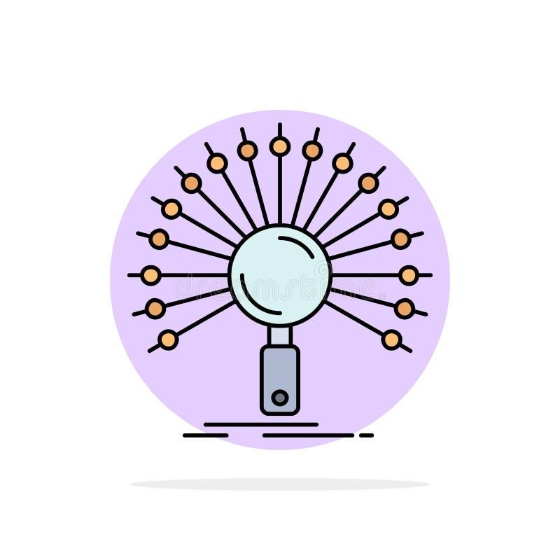 数据,信息,与信息有关,网络,检索平的颜色象传染媒介 向量例证