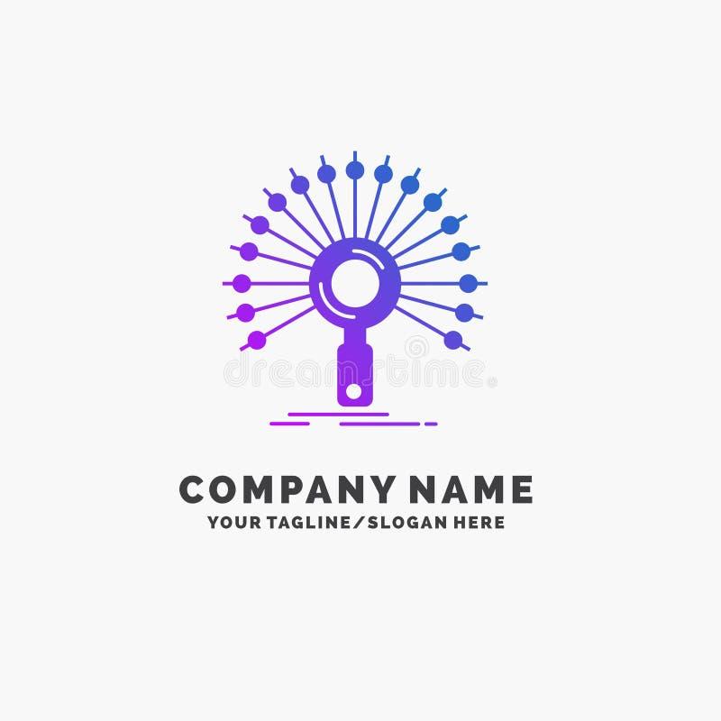 数据,信息,与信息有关,网络,检索紫色企业商标模板 r 库存例证