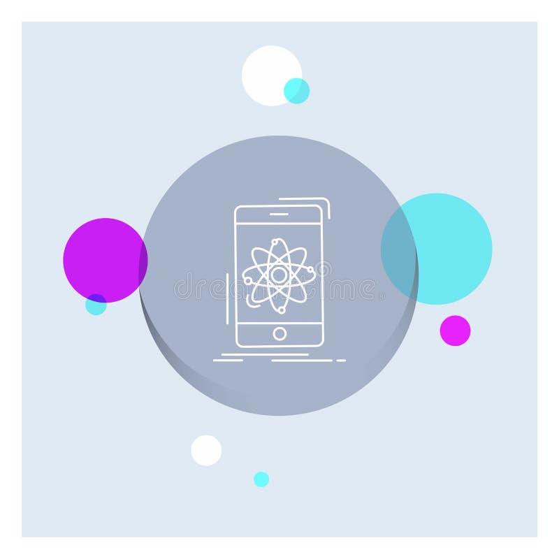 数据,信息,机动性,研究,科学空白线路象五颜六色的圈子背景 皇族释放例证
