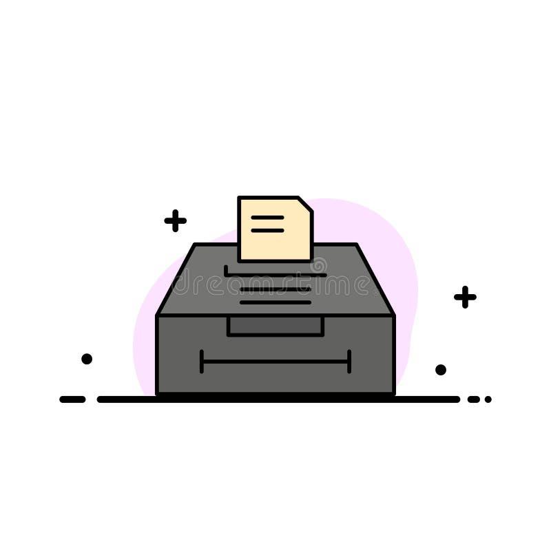 数据,档案,事务,信息企业平的线填装了象传染媒介横幅模板 向量例证