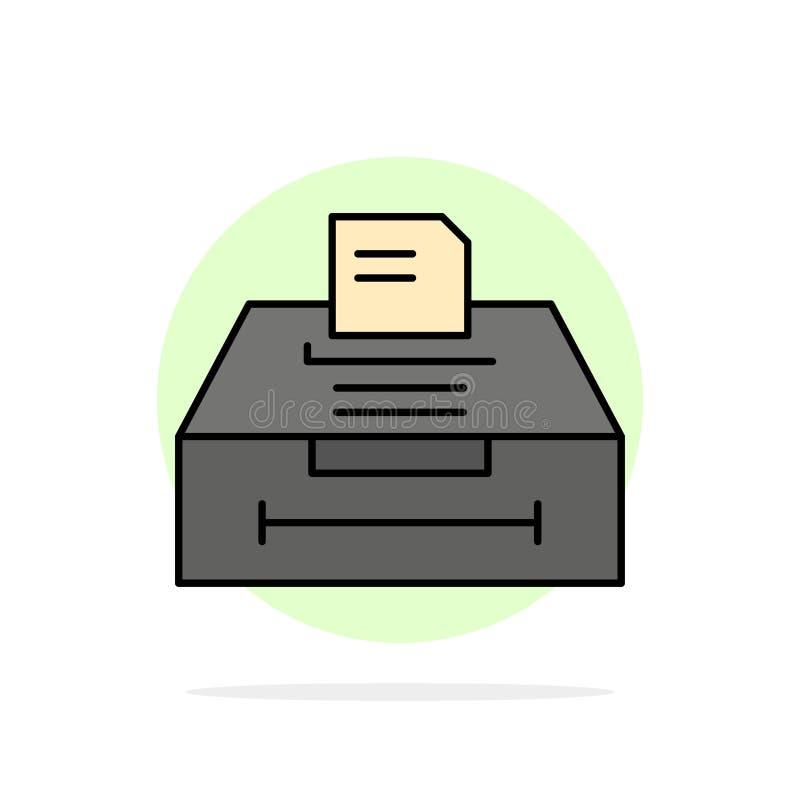 数据,档案,事务,信息抽象圈子背景平的颜色象 皇族释放例证