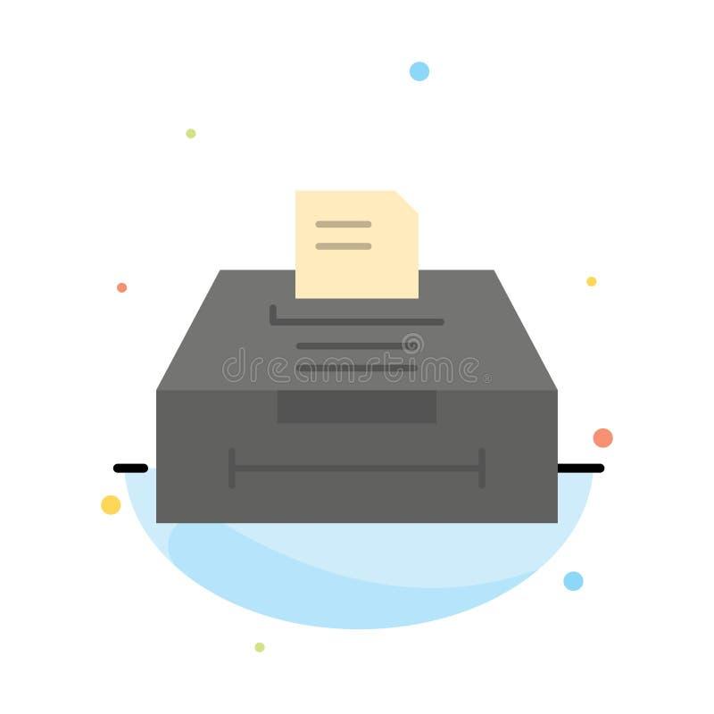 数据,档案,事务,信息摘要平的颜色象模板 库存例证