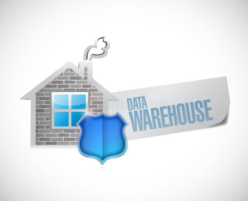 数据仓库标志例证设计 库存例证