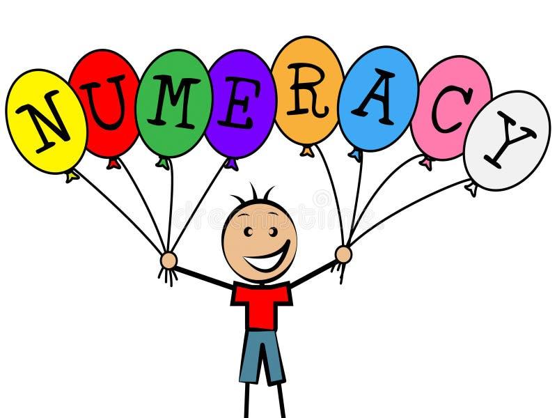 数理知识气球代表青年儿子和数字 向量例证
