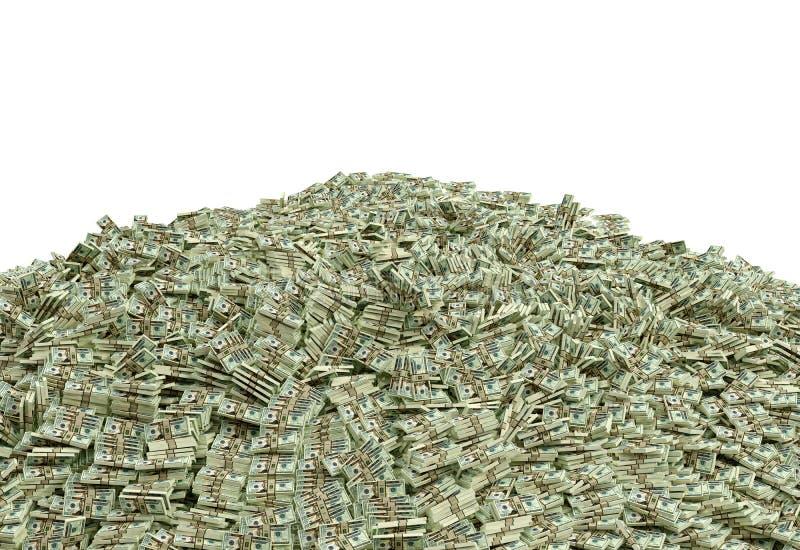 数百万美元 库存例证