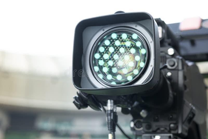 数码摄像机 4k摄像头的辅助部件 库存照片
