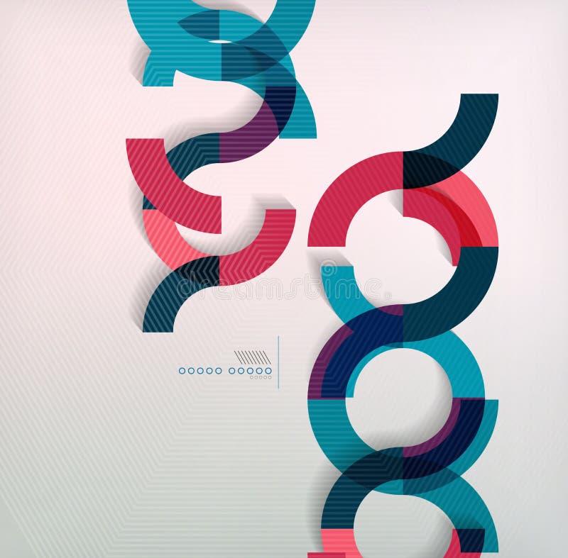 敲响几何形状抽象背景 库存例证