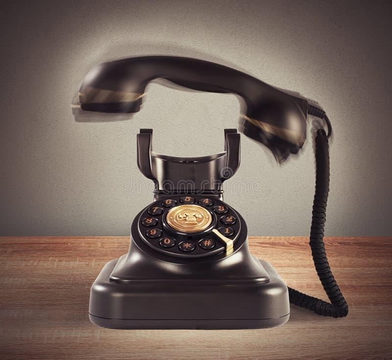 敲响的葡萄酒电话 库存照片