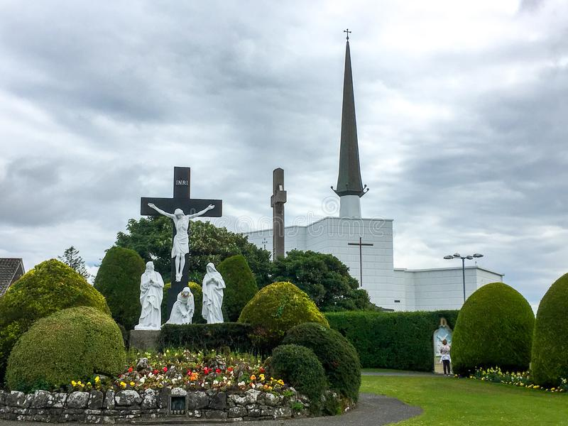 敲大教堂,马约角,爱尔兰 库存图片