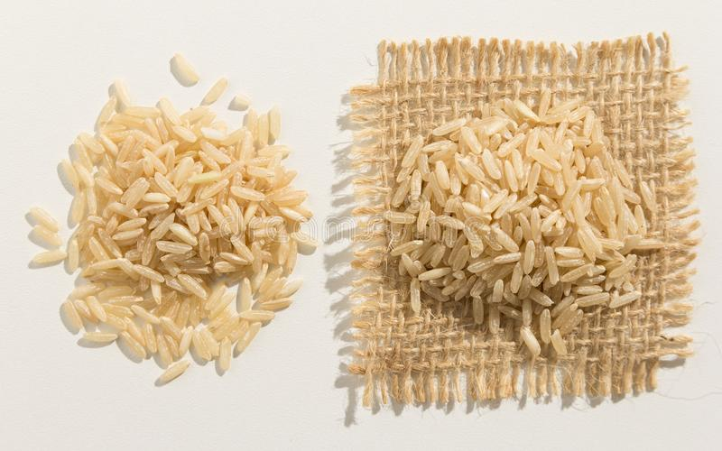 整个中国米种子 关闭五谷延长白色 图库摄影
