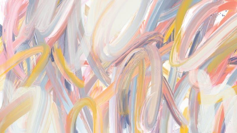 整个银幕的织地不很细抽象刷子冲程涂抹背景 皇族释放例证