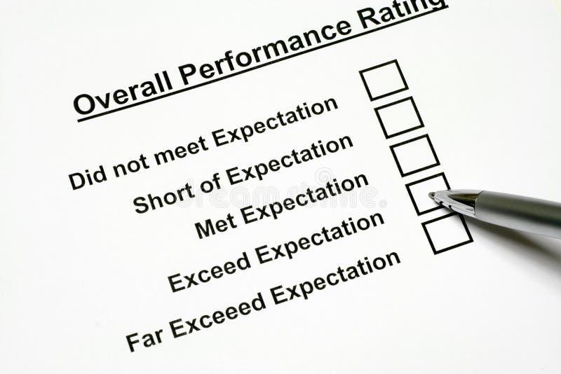 整体业绩评级 免版税库存照片