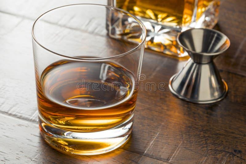 整洁可口的波旁威士忌酒 库存图片