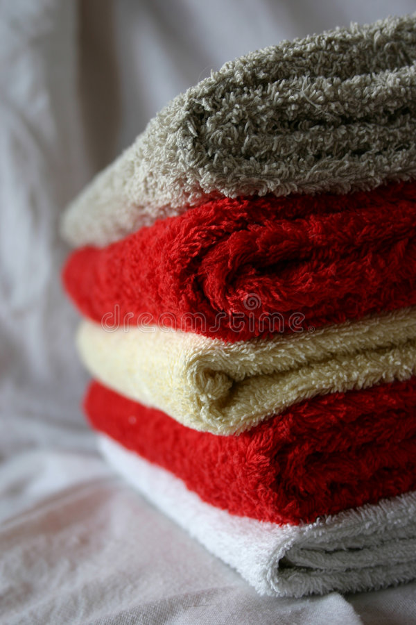 整洁的毛巾 库存照片