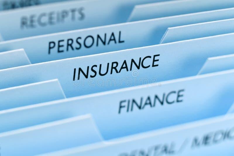 文件保险 免版税库存照片
