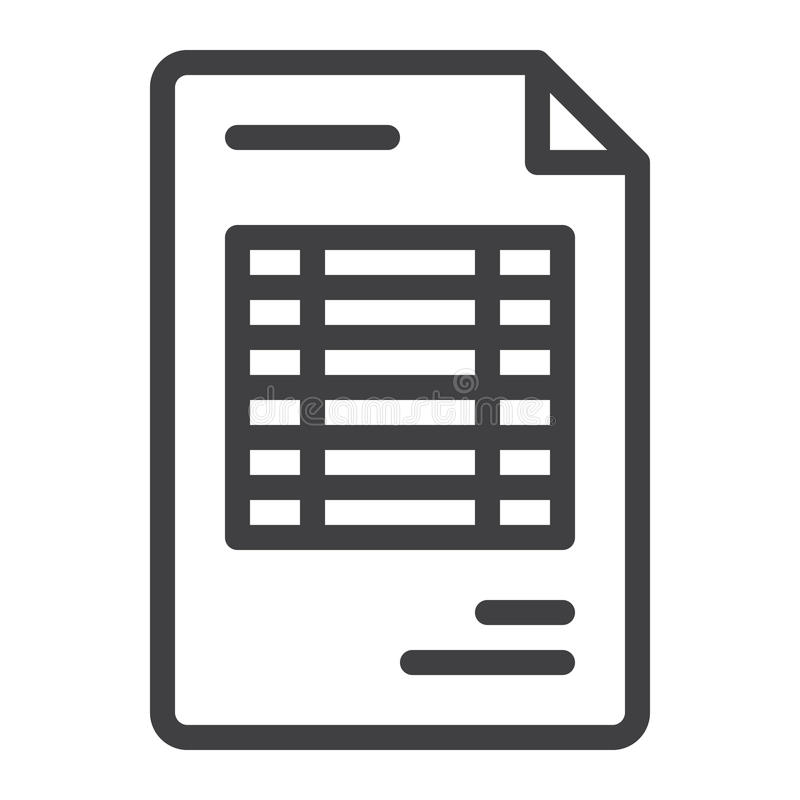 文件发货票线象 向量例证