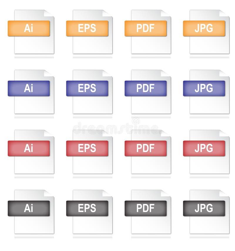 文件图标图象 向量例证