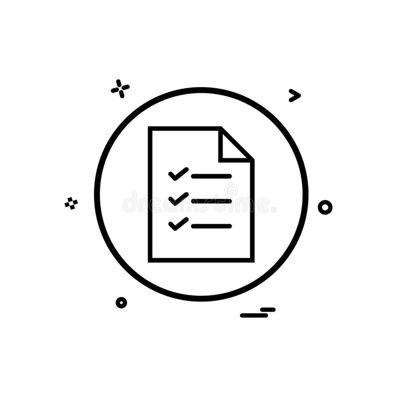 文件基本的象传染媒介设计 库存例证