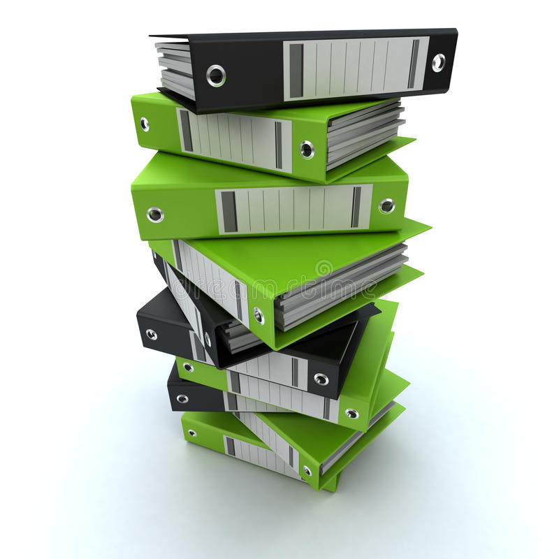 文件堆 免版税库存照片