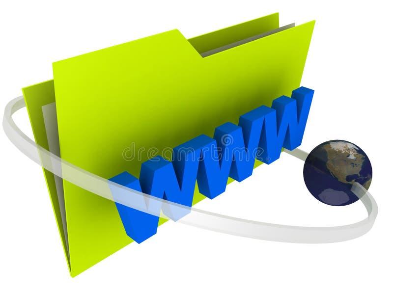 文件夹万维网宽世界 向量例证