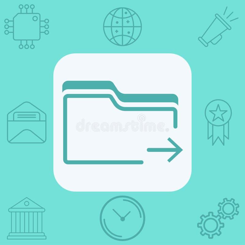 文件夹传染媒介象标志标志 免版税库存图片