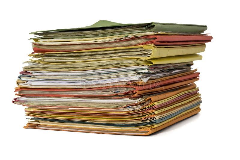 文件夹充分堆积 库存照片