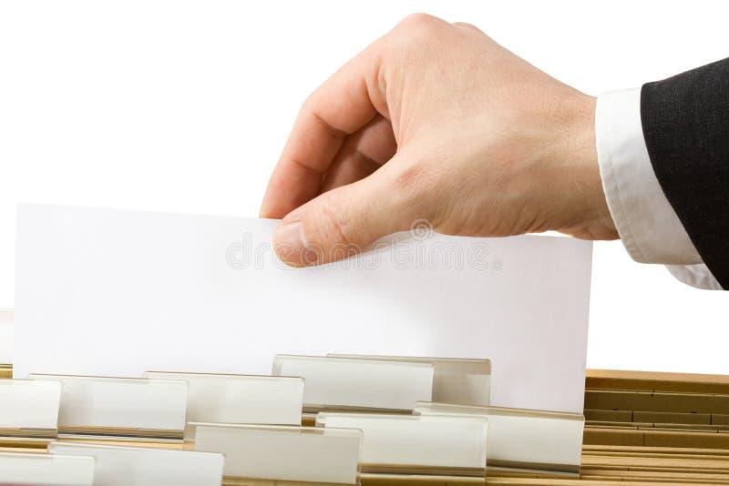 文件夹办公室页 免版税库存照片