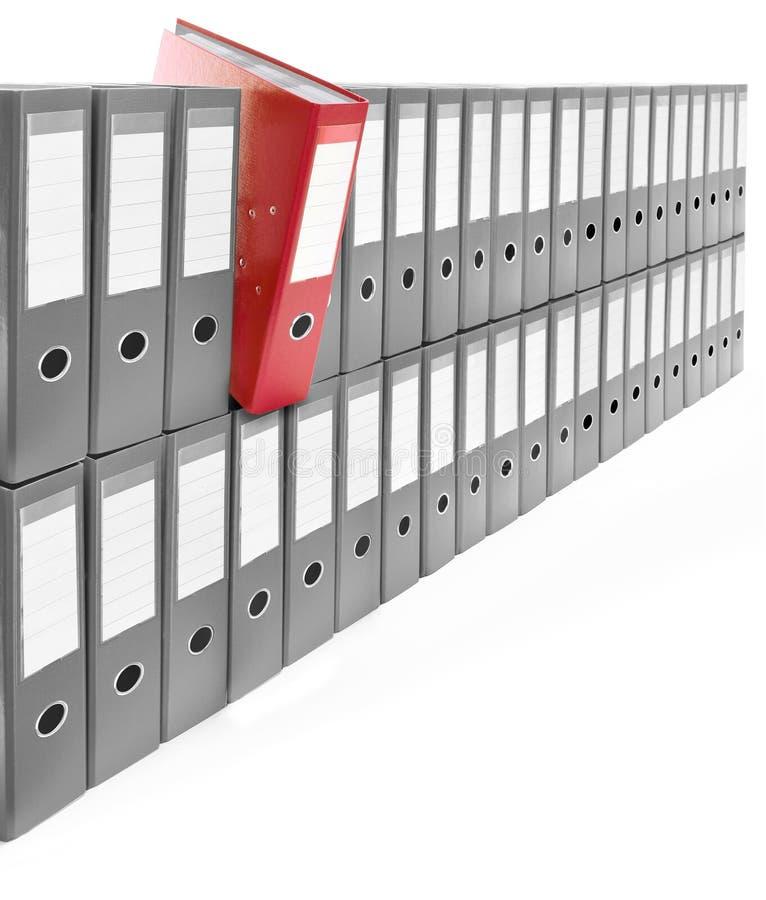 文件夹办公室 皇族释放例证