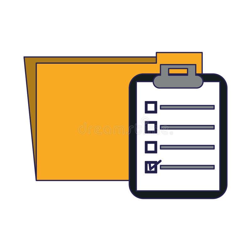 文件夹和剪贴板标志 向量例证