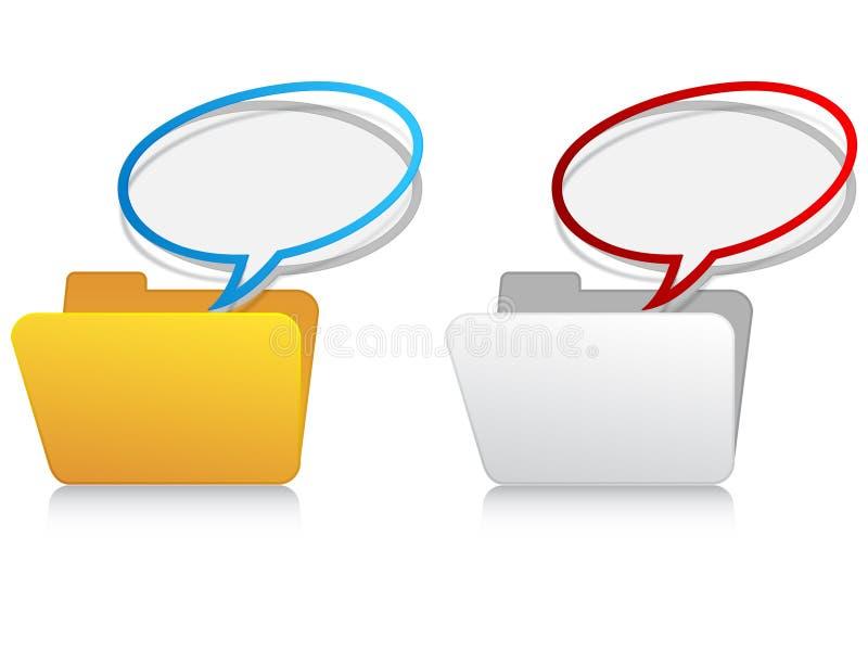 文件夹图标消息 库存例证