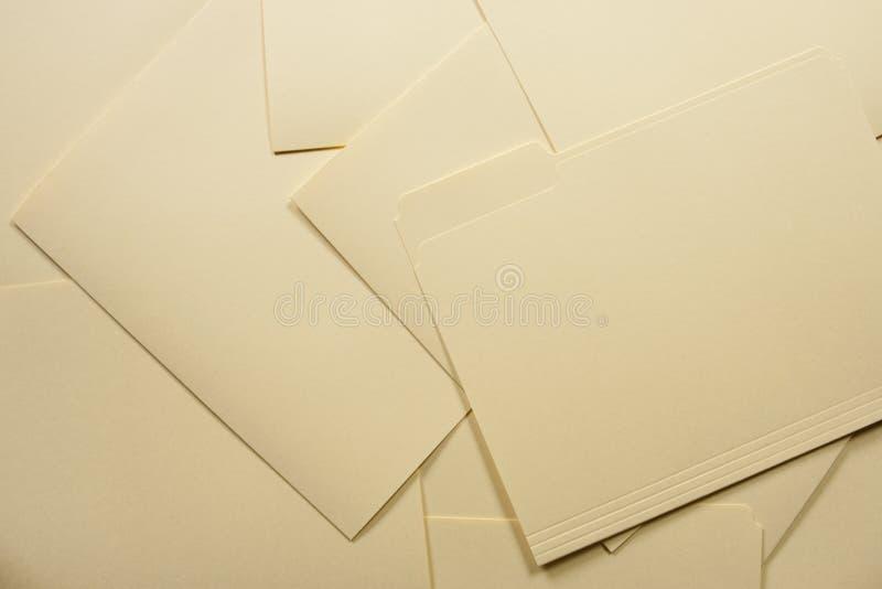 文件夹堆 免版税库存图片