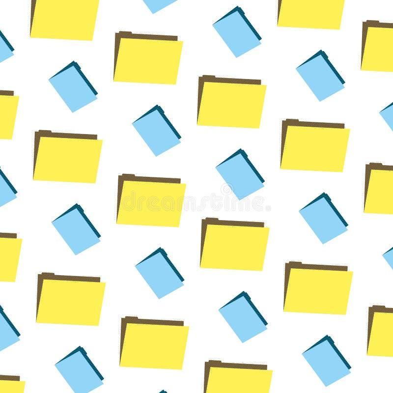 文件夹文件办公室信息背景 向量例证