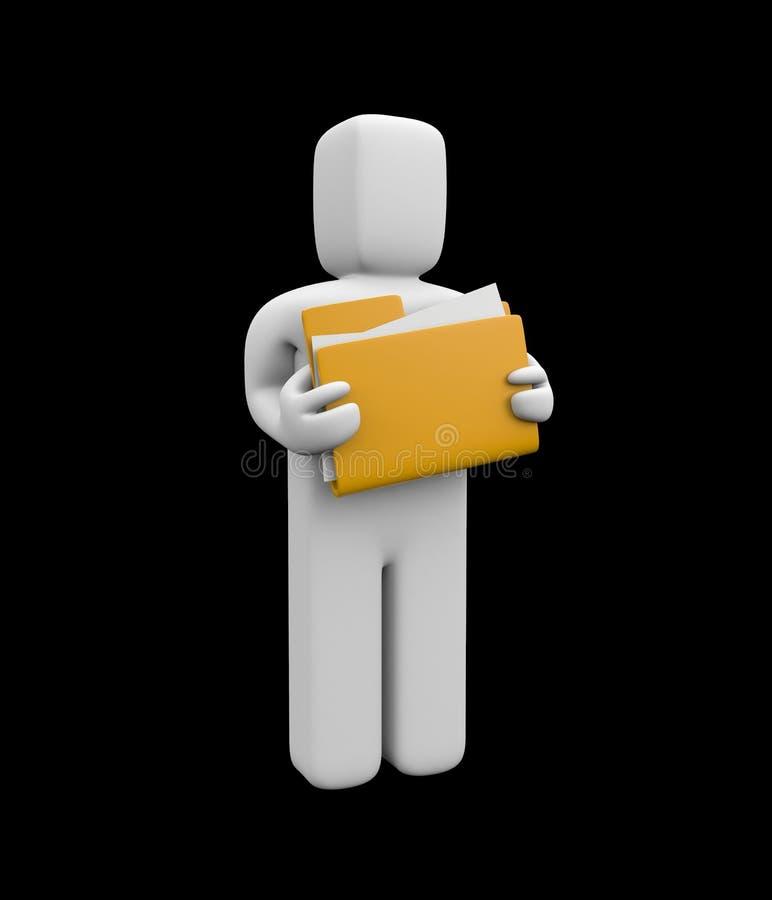文件夹暂挂人员 向量例证