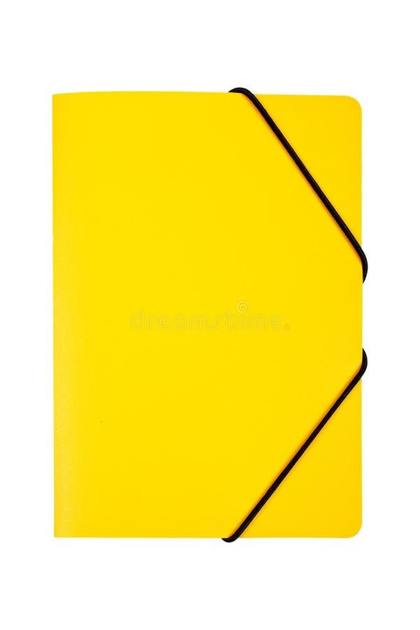 文件夹查出的黄色 免版税图库摄影